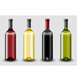 set of different wine bottle vector image