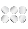 set white round promotional stickers vector image vector image
