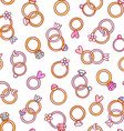 Shiny diamond rings seamless pattern vector image vector image