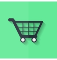 Shopping basket icon Flat design vector image
