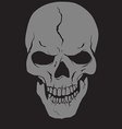 skull with layers vector image vector image