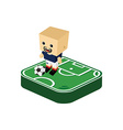 soccer player isometric cartoon vector image vector image