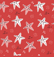 starfish hand drawn seamless pattern vector image vector image