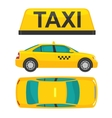 Taxi car View top and side Flat styled vector image vector image