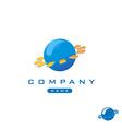 Tech globe logo vector image vector image