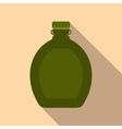 Tourist flask flat icon vector image