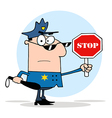 Traffic Police Officer vector image vector image