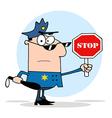 Traffic Police Officer vector image