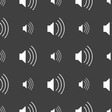 volume sound icon sign Seamless pattern on a gray vector image vector image