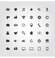 36 web media icons set vector image