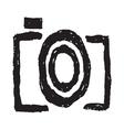 Hand drawn camera symbol1 vector image