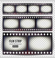 film strip set realistic frame strip blank vector image