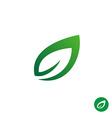 Green leaf symbol vector image