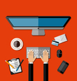 Modern business office workspace vector image