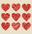 Tribal hearts vector image