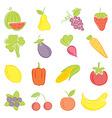 a set hand drawing food vector image
