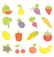 a set of hand drawing food vector image