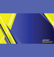 abstract yellow and blue motion technology design vector image vector image