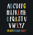 alphabet hand drawn letters letters of vector image vector image