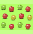 apples background vector image vector image