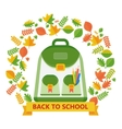 back to school bag leavs vector image