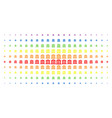 bank building spectrum halftone matrix vector image vector image