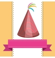 birthday party hat vector image