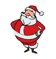 cartoon santa claus for your christmas vector image vector image