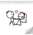cartoon wedding couple vector image vector image