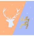 christmas elegant postcard vector image vector image