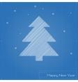 Christmas tree on blueprint vector image