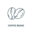 coffee beans line icon coffee beans vector image