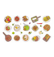 collection of various traditional mexican meals vector image vector image