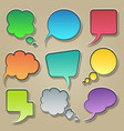 colorful speech bubble icons set vector image vector image