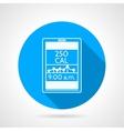 Contour icon for calorie control app vector image