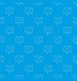 cross sign pattern seamless blue vector image vector image