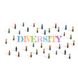 diversity in unity society living coexist vector image