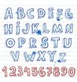doodle font vector image vector image