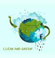 ecological conceptual planet earth vector image