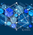 engineering technology dark blue wallpaper made vector image