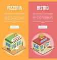 fast food buildings vector image