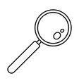 find solution magnify glass icon outline style vector image