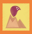 flat shading style icon volcano erupting vector image