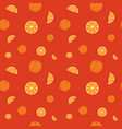 fruits oranges seamless patterns vector image vector image