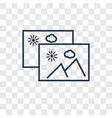 gallery concept linear icon isolated on vector image