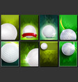 golf poster set empty template for design vector image vector image