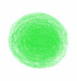 green crayon scribble texture stain isolated on vector image vector image