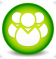 green icon with character symbol icon with group vector image