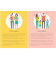 happy family parents and kids mother holds newborn vector image vector image