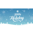 happy holiday merry year vector image vector image
